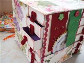 Комодик для рукодельницы из спичечных коробков