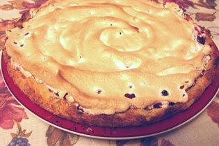 пирог из рубленного теста с ягодами
