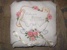 Подушка свадебная для колец.