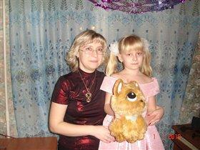 С дочкой НГ 2010