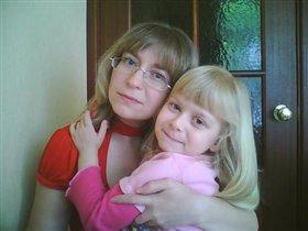 С дочой Иришкой