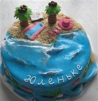 Торт 'Пляж'