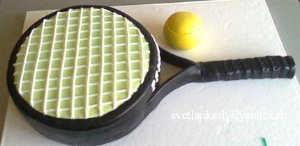 Торт Теннисная ракетка