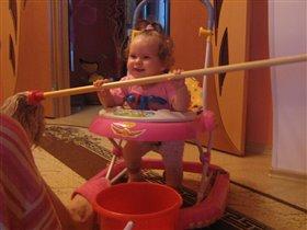 мамочка,я сама помою пол