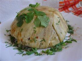 Террин из запеченных  овощей и сыра