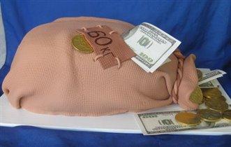 Торт Мешок денег