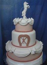 Торт Свадебная гарцующая лошадь