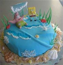 Торт Спанч Боб и Патрик