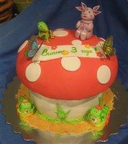 Торт Лунтик на мухоморе
