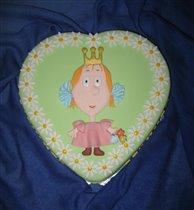 Торт Маленькая принцесса с ромашками