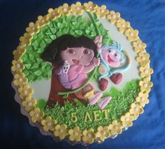 Торт Дора-путешественница