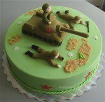 Торт Танк и солдаты