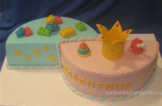Торт для двух именниников