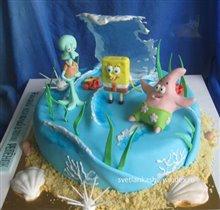 Торт Спанч Боб и друзья