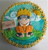 Торт Наруто на пруду