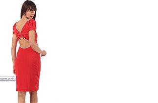 Спинка красного платья