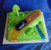 Торт Вверх по карьерной лестнице на новой машине