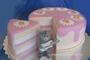Торт Мишка Тедди рок гитарист