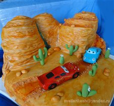 Торт Тачки в каньоне
