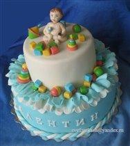 Торт Малыш с мобильником и игрушками