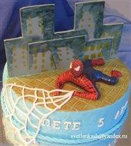 Двойной торт . Половина для старшего брата.