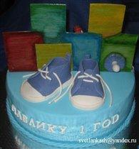 Двойной торт. Половина для младшего брата.