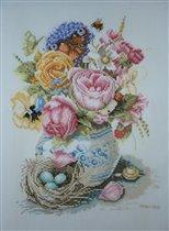 Ланарте 34996 Розы в фаянсовой вазе
