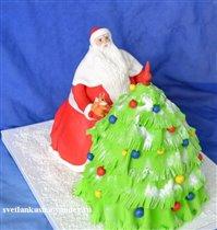 Торт Дед Мороз и ёлка