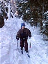 Готовлюсь в лыжную сборную!