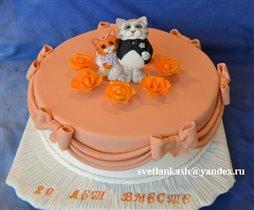 Торт Свадебные кошки