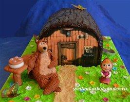 Торт Маша и Медведь (шоколадное покрытие)
