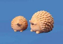Фигурка глиняная в виде ежа, 9 см