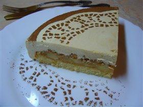 по мотивам Яблочного торта с баварским муссом