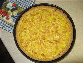 Яблочный пирог - суфле.