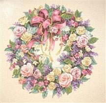 Розовый венок к розовой свадьбе
