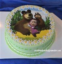 Фото-торт Маша и медведь