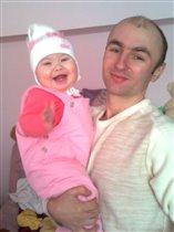 Тато та донечка Вікуся!!!