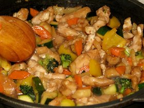 Курица в кисло-сладком соусе 'по-китайски'