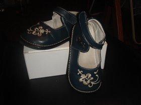 туфли синие на девочку б/у