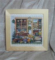 Цветочный Домик (вышивка лентами по принту)