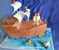 Торт Русалка на корабле