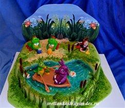 Торт Лунтик на пруду