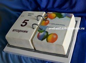 Торт Перекидной календарь