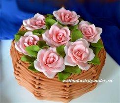 Торт Корзина роз