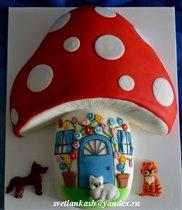 Торт Дом-Мухомор