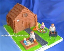 Торт Семья у дома