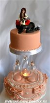 Торт Розовая свадьба
