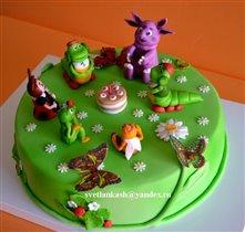 Торт Лунтик с друзьями