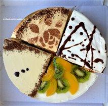 Дегустационный торт из четвертинок разных составов