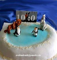 Торт Мадагаскар на льду